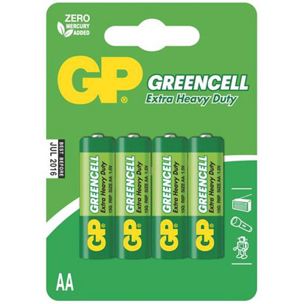 Baterie GP 15G GREENCELL R6 (AA)