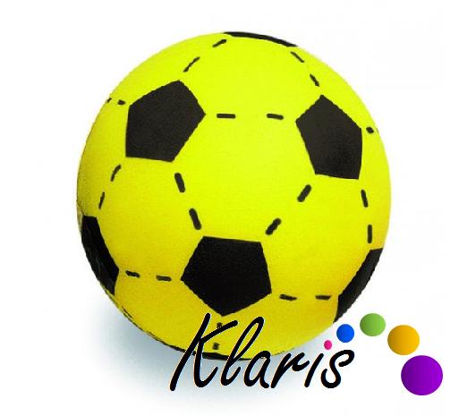 b66681eb071a4 Penová futbalová lopta - žltá | www.klaris-shop.sk