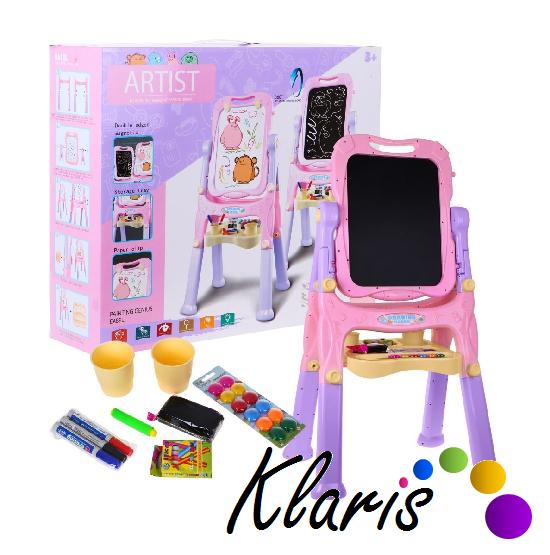 Detská obojstranná tabuľa s doplnkami - ružová empty ae13b179046